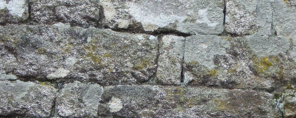 Murs en pierres de taille granitiques
