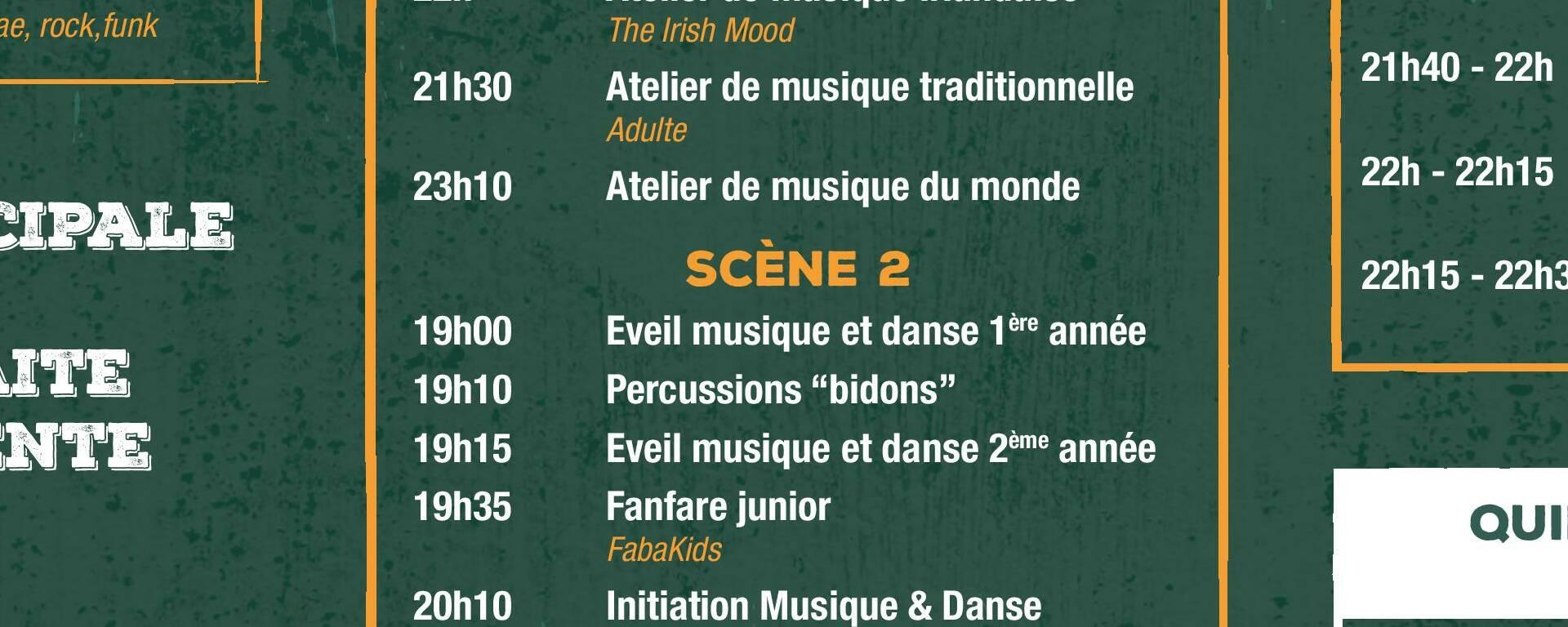 Programme de la Fête de la Musique de Baud - verso