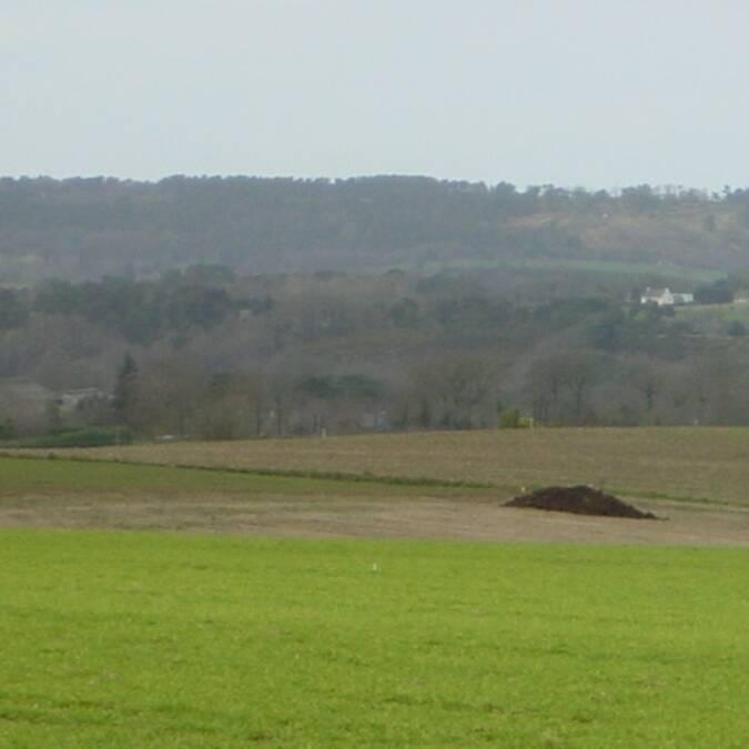 Un paysage vallonné