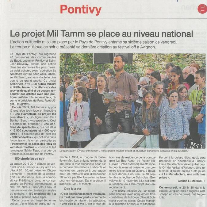 Projet culturel Choeur d'enfance - Mil Tamm